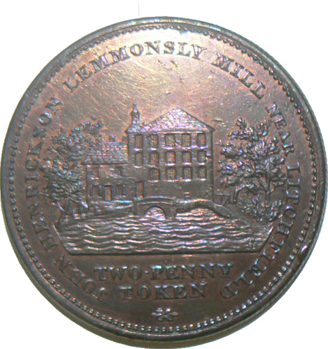 Token for Leomansley Mill taken from Lichfield District Council flickr stream.
