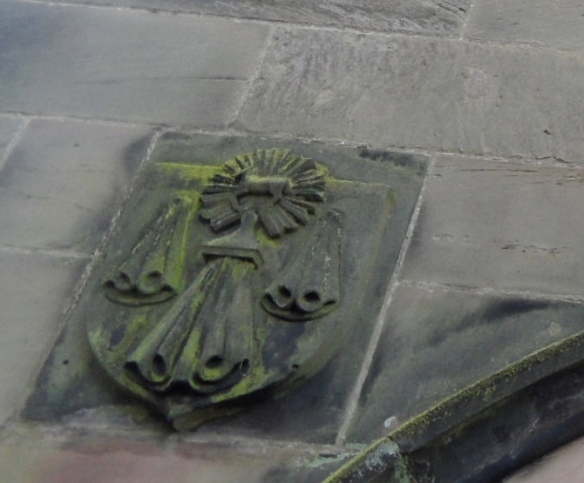 St Michael's Church at Lichfield's version of the arms