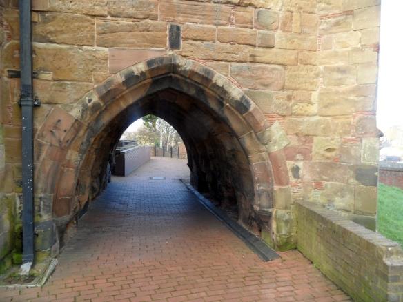 Passageway under the chancel of St Matthew's