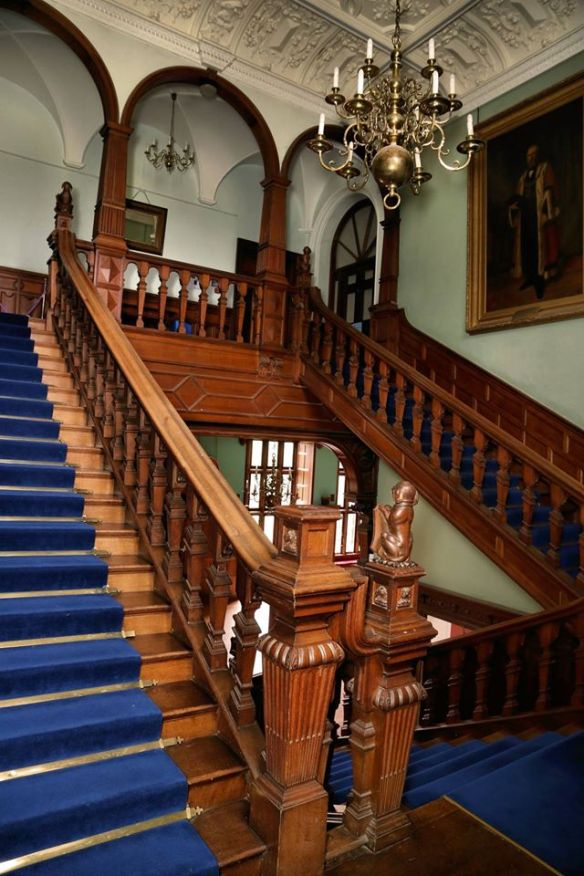 Blue Staircase with portrait of Alderman Reuben Fairley JP