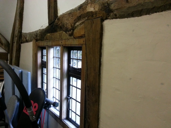Timber beams in Cruck House
