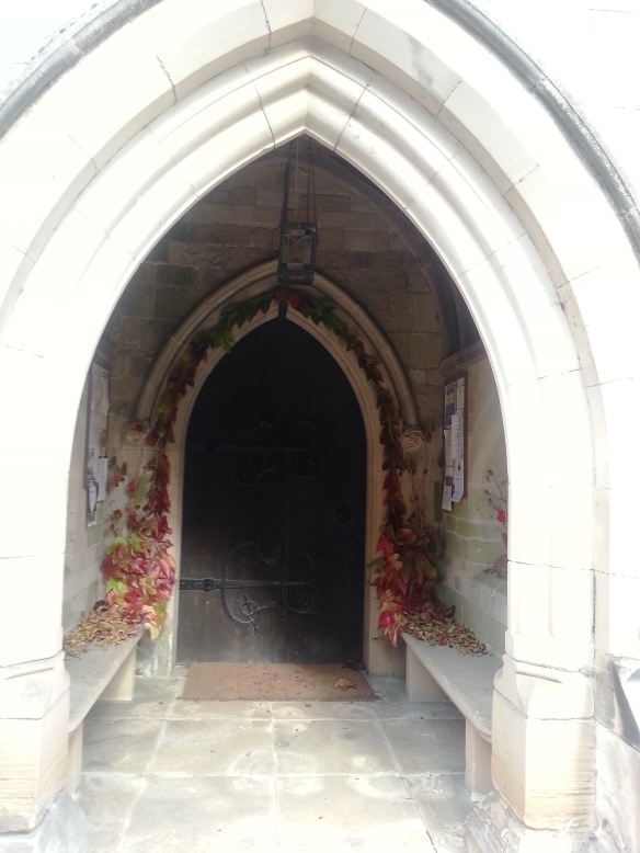 Blithfield church door