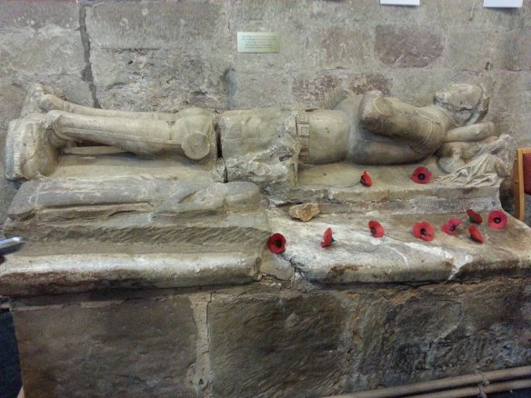 Two effigies at Gnosall church