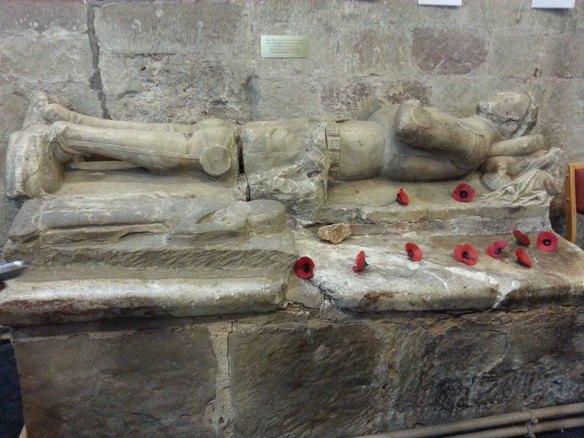Two effigies at Gnosall church