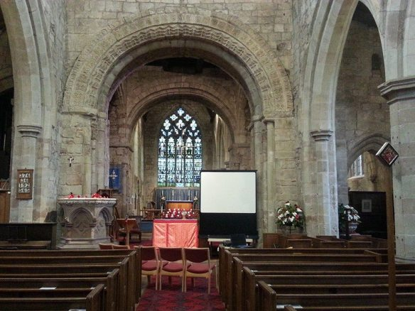 Norman arch, Gnosall church