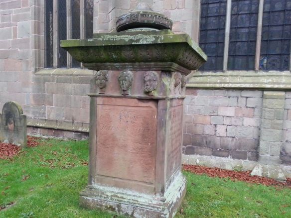 Tombstone in the graveyard at the Church of St Lawrence, Gnosall/