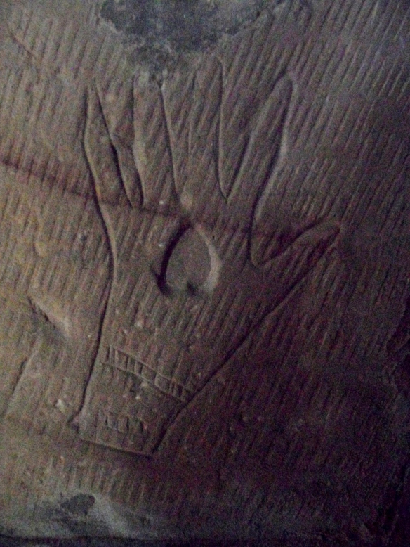 The 'Bride's Hand' Carving, St James the Great, Longdon