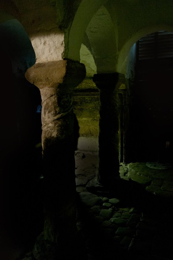 The crypt at Repton. Photo by David Moore.