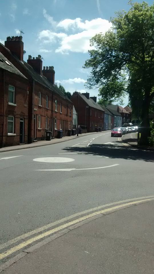 Back to plaque, looking up George Lane which was actually once part of the town ditch