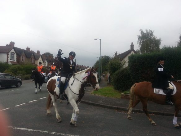 The Sheriff perambulating Cross in Hand Lane in 2014