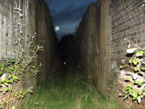Moon above the lock 2012-ish. Taken by Steve Martin