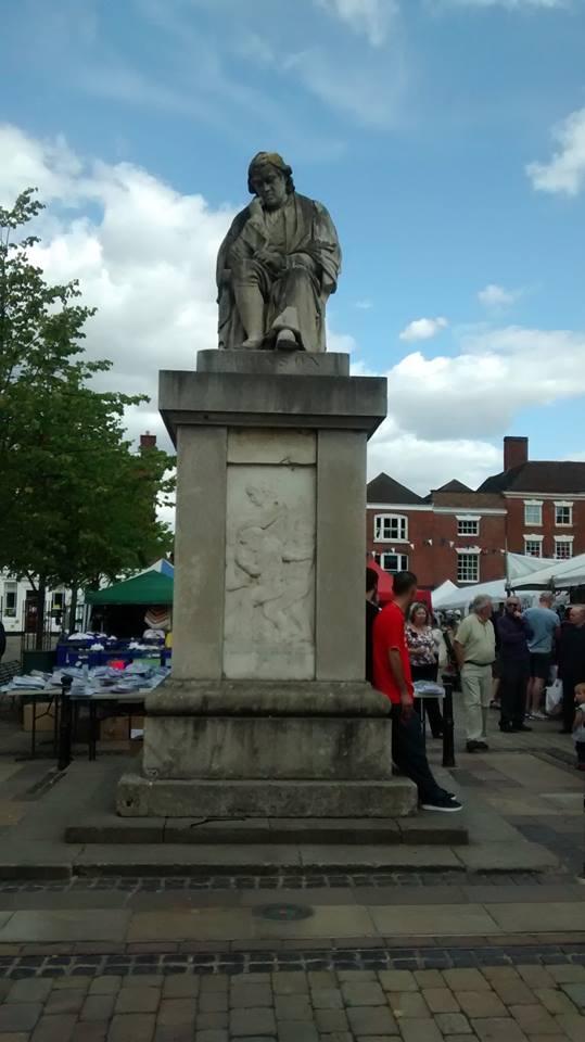 Samuel Johnson statue, Market Square, Lichfield