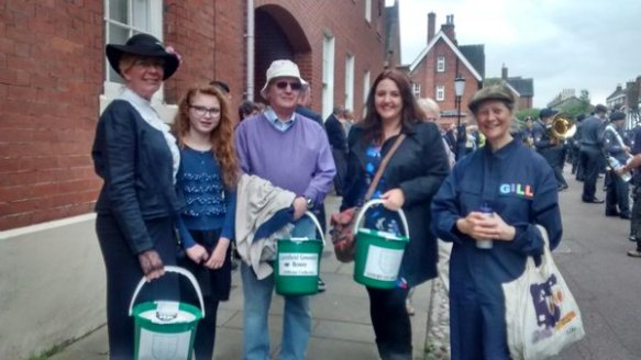 Some of the Waterworks Trust Gang collection during the Lichfield Bower 2015
