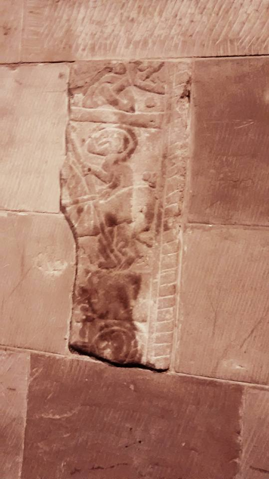 Eccleshall anglo saxon carving