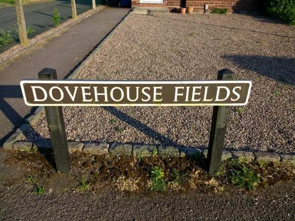 Dovehouse Fields sign